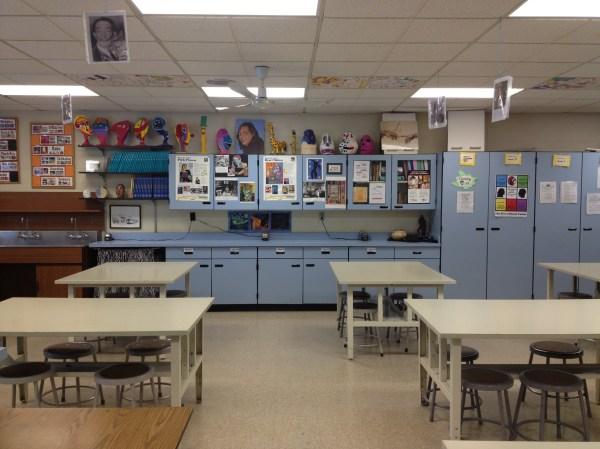 Middle School Art Room Classroom