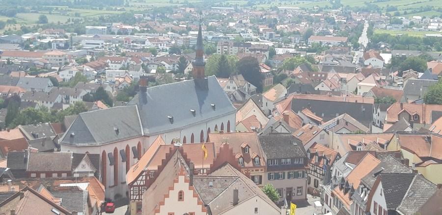 Franziskanerkloster von oben