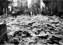 7 Eylül 1955 sabahı İstiklal Caddesi