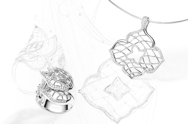 Fei Liu Window of the Heart necklace and earrings