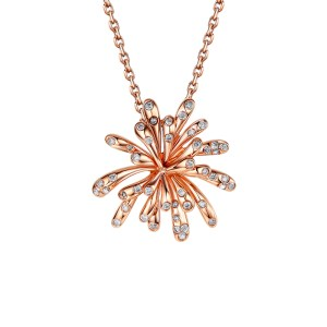 Celebration diamond 9ct rose gold pendant.