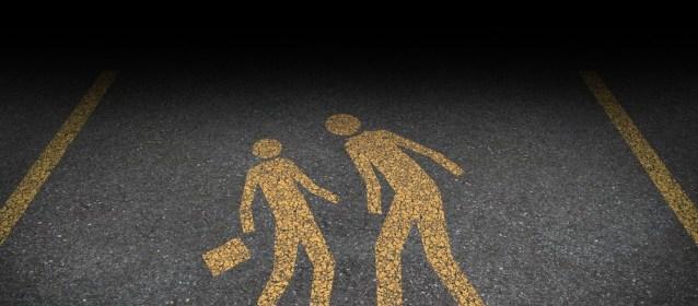 feminism (women) - street harassment road lines (Shutterstock)