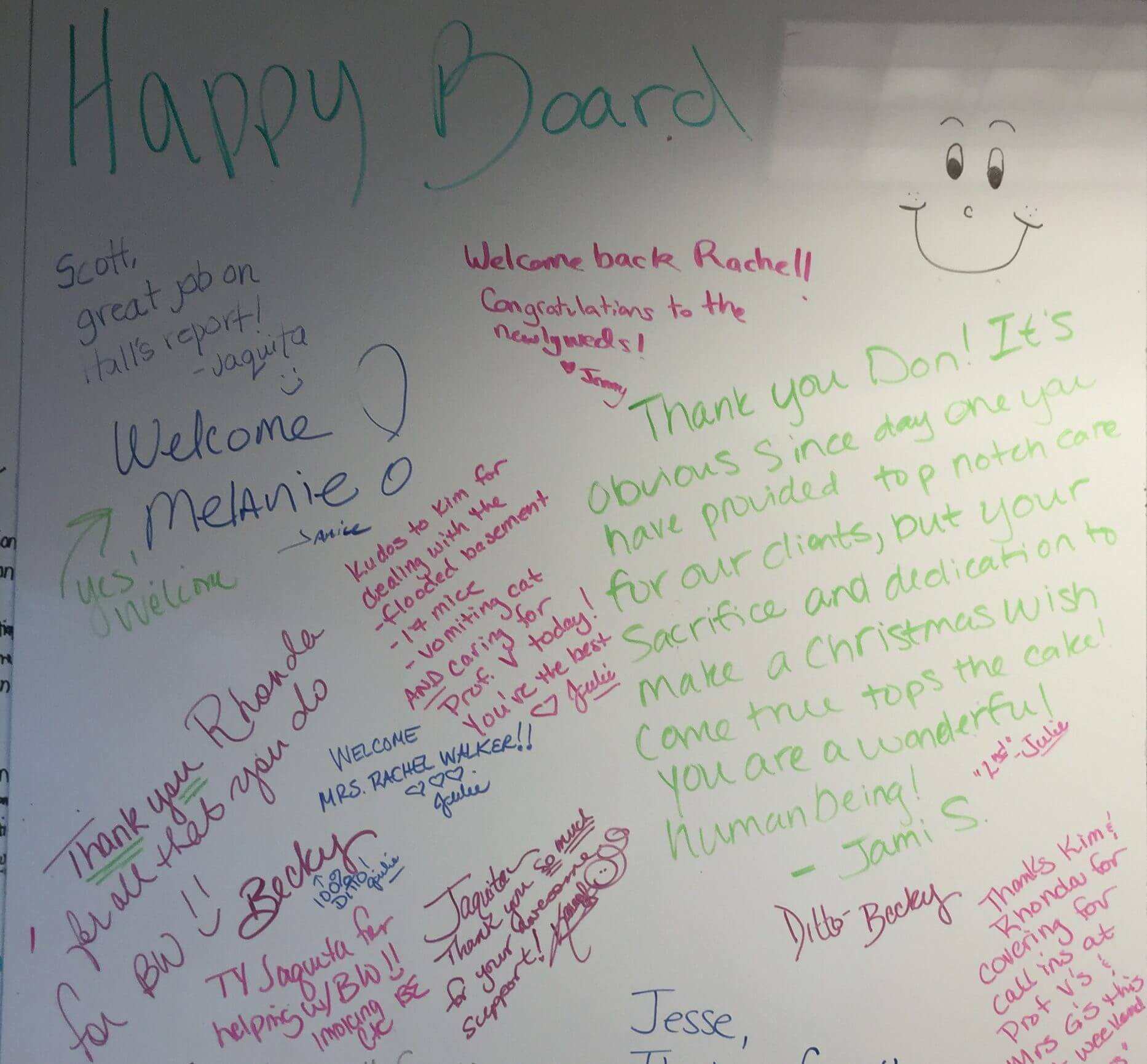 A Look into Feinberg Consulting's Happy Board