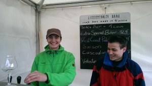 Malte Feldmann von Lichtenthaler Bräu (links)