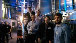 Das Babo blue Team bei der Release Party vergangene Woche