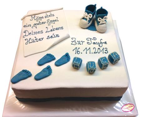 Eckige Torte zur Taufe  Festtagstorten  Caf Conditorei AlbringRdel
