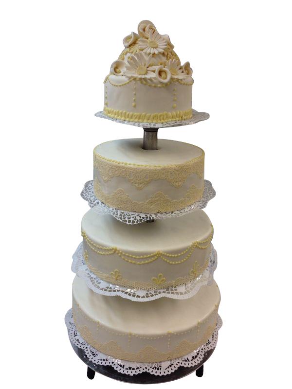 elegante Torte mit Spitze  Hochzeitstorten  Caf