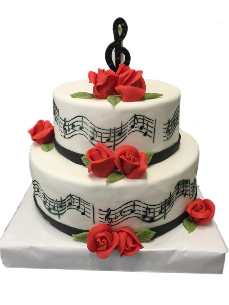Torte fr Musiker  Hochzeitstorten  Caf Conditorei