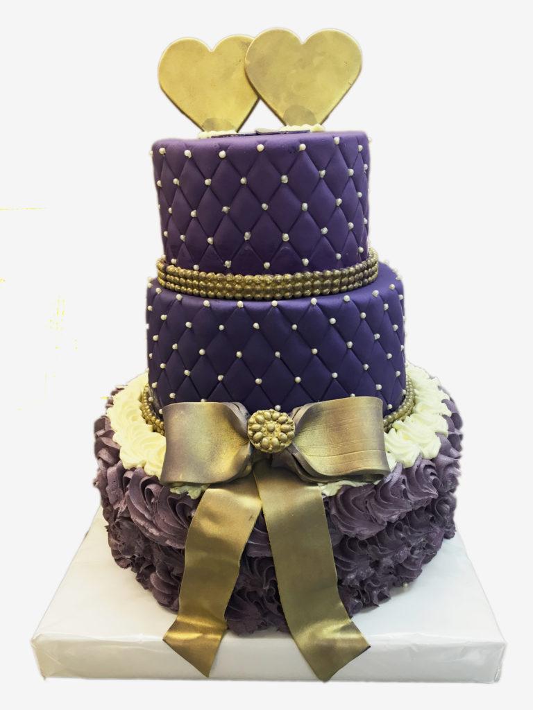 Lilagoldene Torte  Hochzeitstorten  Caf Conditorei