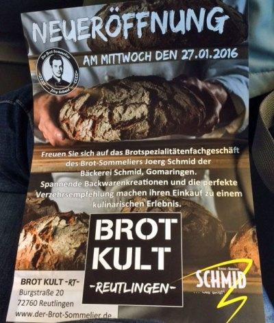 Reutlingen hat ab heute eine Brotsommelier Bäckerei