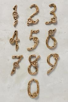 Anthropologie flowering branch house numbers