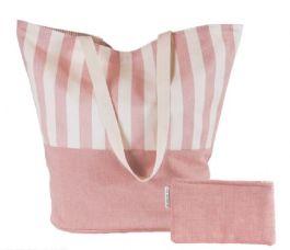 Ian Mankin: Beach Bag in Norfolk Stripe Pink, £39.50
