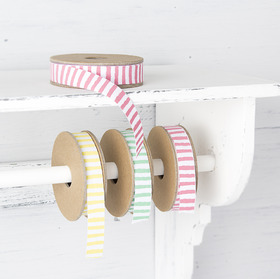 Stripe ribbons, £4.00 for a 5m reel from The Contemporary Home