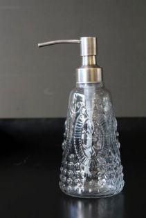 Vintage style glass soap dispenser, £18.00 from Rockett St George