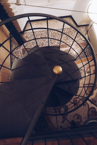 The spectacular spiral staircase
