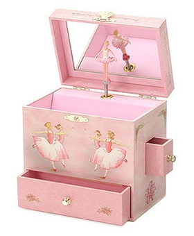 Little Girl Jewelry Box Music : little, jewelry, music, Chasing, Treasure, Wood,, Leather, Musical, Jewelry, Boxes, Feisty, Frugal, Fabulous