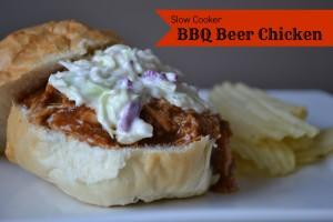 slow cooker bbq beer chicken