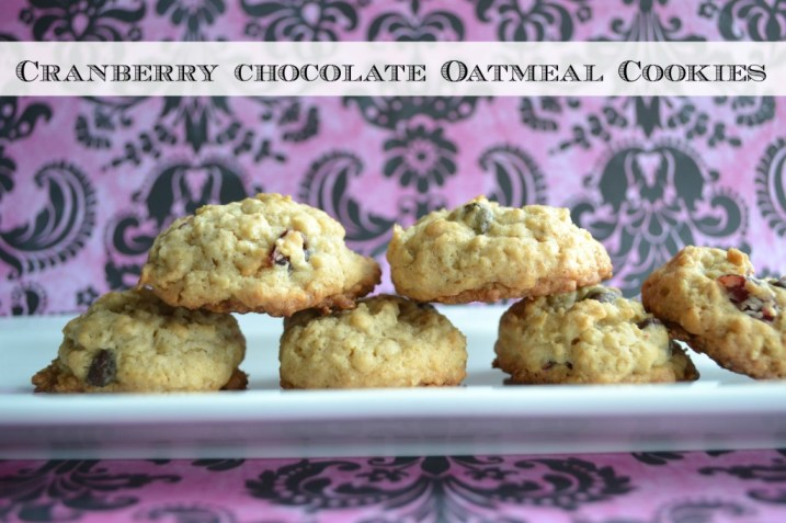 Cranberry Chocolate Oatmeal Cookies