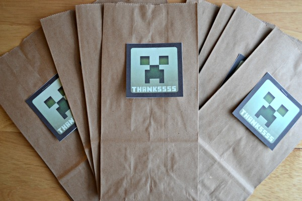 Minecraft creeper gift tag