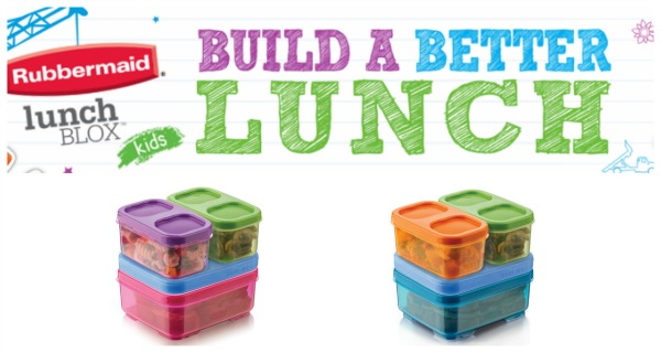 lunchblox kids by rubbermaid feisty frugal fabulous. Black Bedroom Furniture Sets. Home Design Ideas