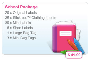 Olivers Labels school package