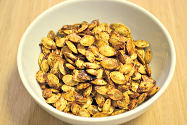 Roasted Pumpkin Seeds - sweet and spicy!