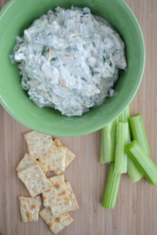 Easy Spinach Dip - made with fresh spinach so no thawing/draining required