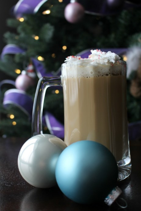Mocha Mistletoe: combine kahlua, bailey's, hot chocolate and coffee!  Will warm you from the inside out!