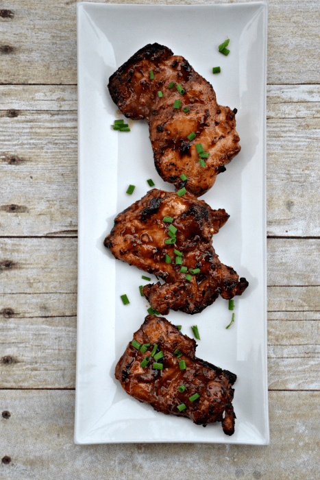 Savoury Asian Glazed Chicken Thighs recipe