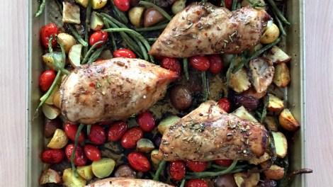 Honey Balsamic Sheet Pan Chicken