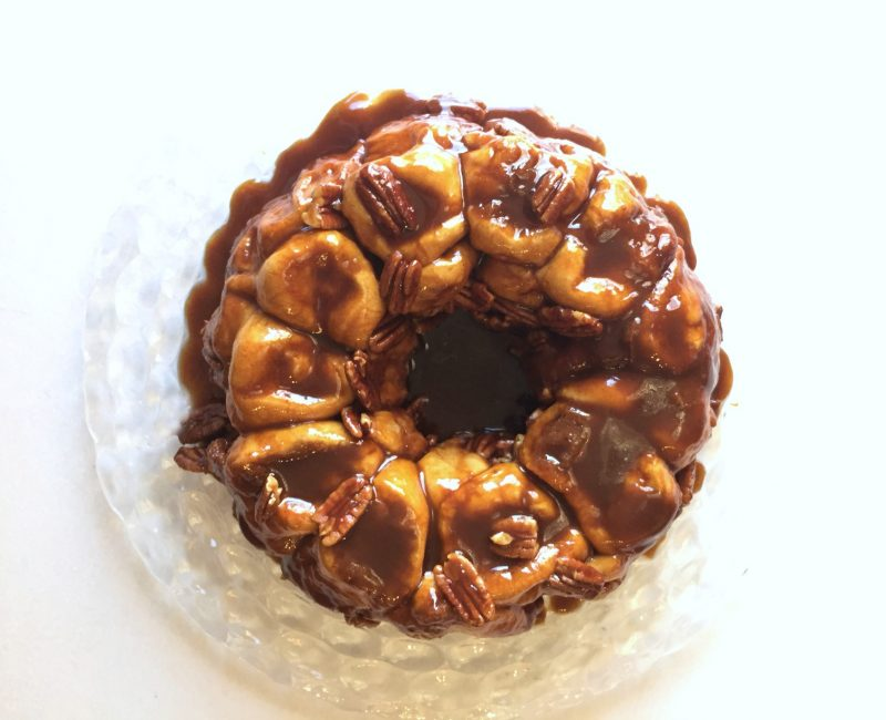 easy monkey bread recipe (overnight caramel rolls)