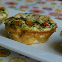 Mini Turkey Bacon Quiche (no crust)