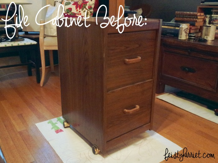 A Tale of Two File Cabinets A DIY Success  Feisty Harriet