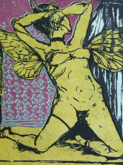 """Instant Savior with gold wings & a push-up bra & a fine disposition"" Detail 1"