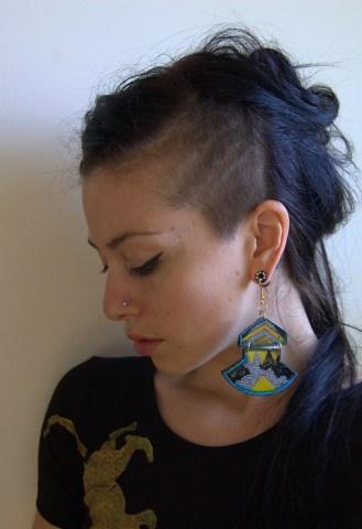 Josie in Abstract City earrings