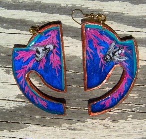 Insect Jungle Horizon earrings in Blue
