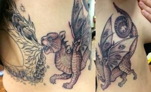 custom cat dragon
