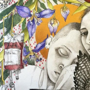 pen & ink/ watercolor. 2015