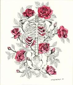 Original illustration with roses