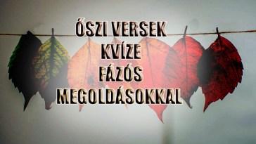 őszi versek kvíze