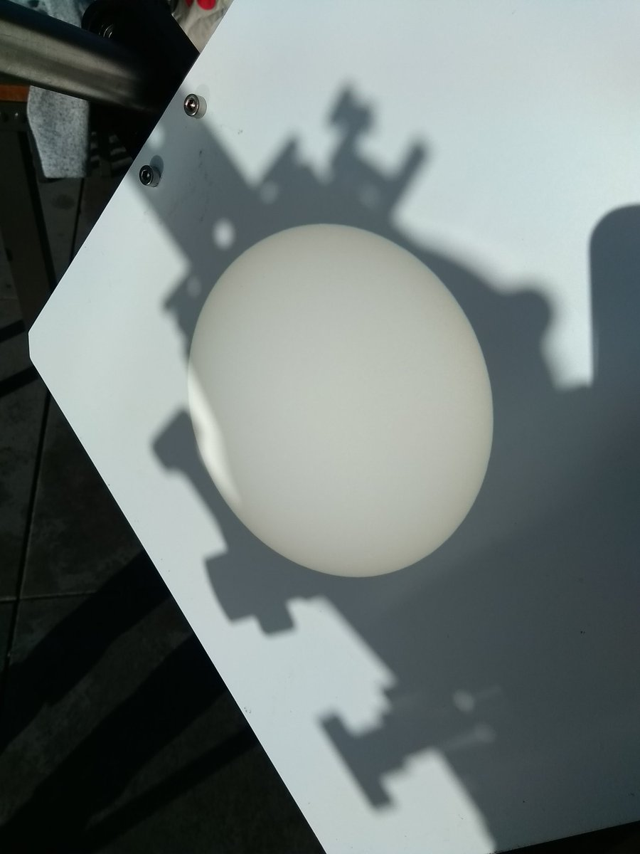Sun projection without sun spots.© Esther Hanko