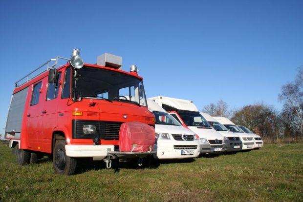 Früher Feuerwehrwagen, heute Camper