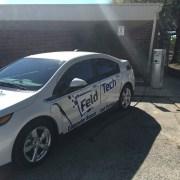 Feldtech's company car parked out back.