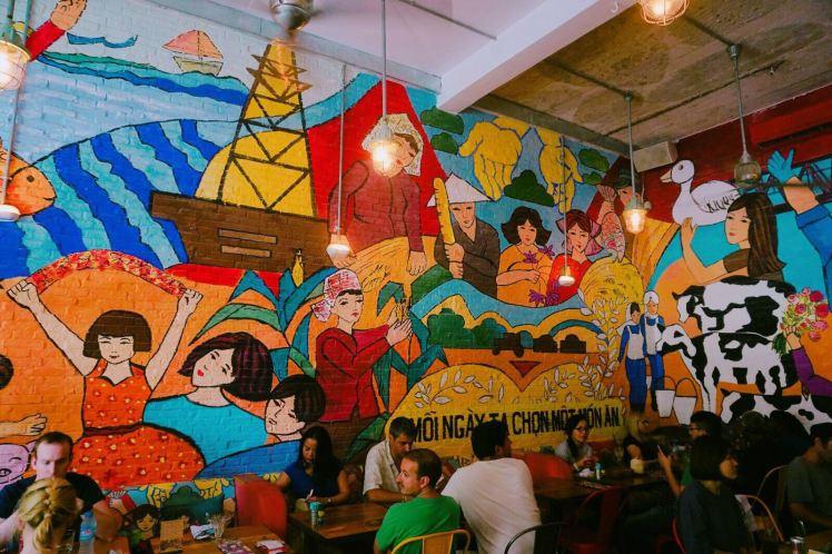 [越南]CP值高的彩色壁畫餐廳!食好feel又食好野~ – Felice Trips 三個女生遊記