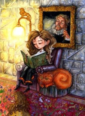 Hermione_Reading-Felicia_Cano