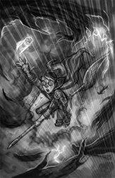 Harry and Dementors Sketch, Digital