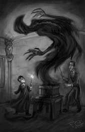 Harry, Lupin, and a Boggart, Digital