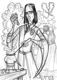 Young Snape Sketch, Digital