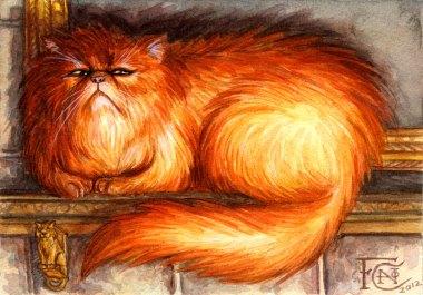 Crookshanks Sketch, Watercolor