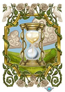 A Battle of Wits White Hourglass Card ©Game Salute, Digital